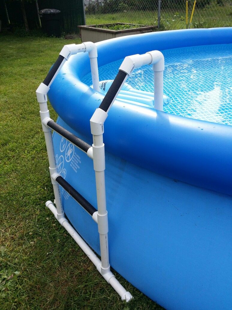 Best ideas about DIY Pool Steps . Save or Pin PVC pool ladder DIY Projects Pinterest Now.