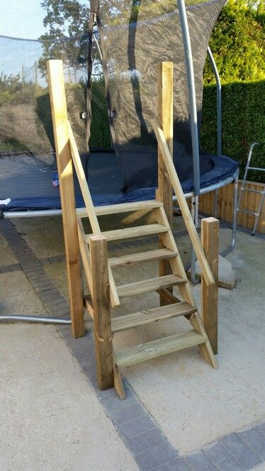 Best ideas about DIY Pool Steps . Save or Pin Trampoline stairs cray cray Now.