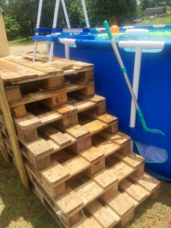 Best ideas about DIY Pool Steps . Save or Pin 50 DIY Pallet Ideas That Can Improve Your Home Now.