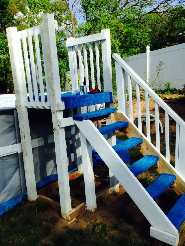 Best ideas about DIY Pool Steps . Save or Pin INTEX DIY pool steps Intex pool steps DIY Now.