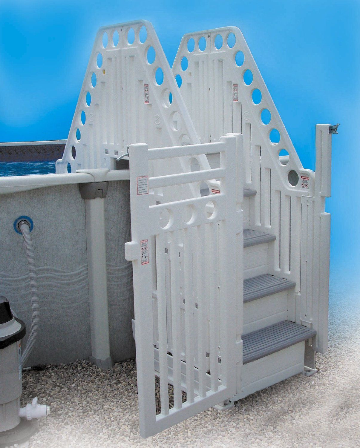 Best ideas about DIY Pool Steps . Save or Pin Amazon Confer Double Staircase Ground Pool Now.