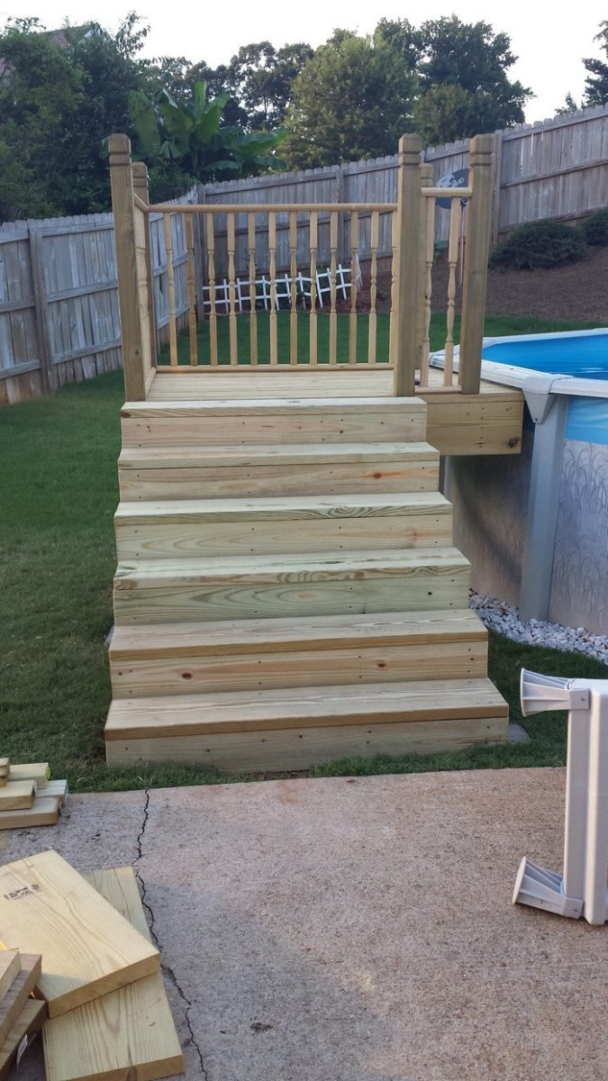 Best ideas about DIY Pool Steps . Save or Pin Build an inexpensive above ground swimming pool Now.