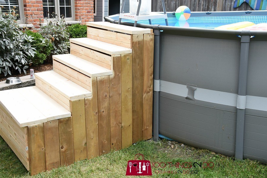 Best ideas about DIY Pool Steps . Save or Pin DIY ground pool ladder stairs Now.