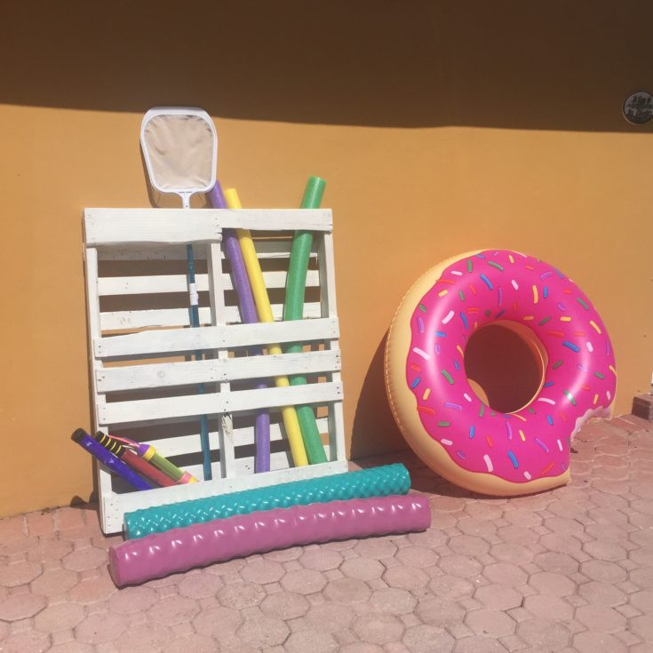 Best ideas about DIY Pool Toys . Save or Pin DIY Pallet Board Pool Toy Storage Smarty Pants Mama Now.