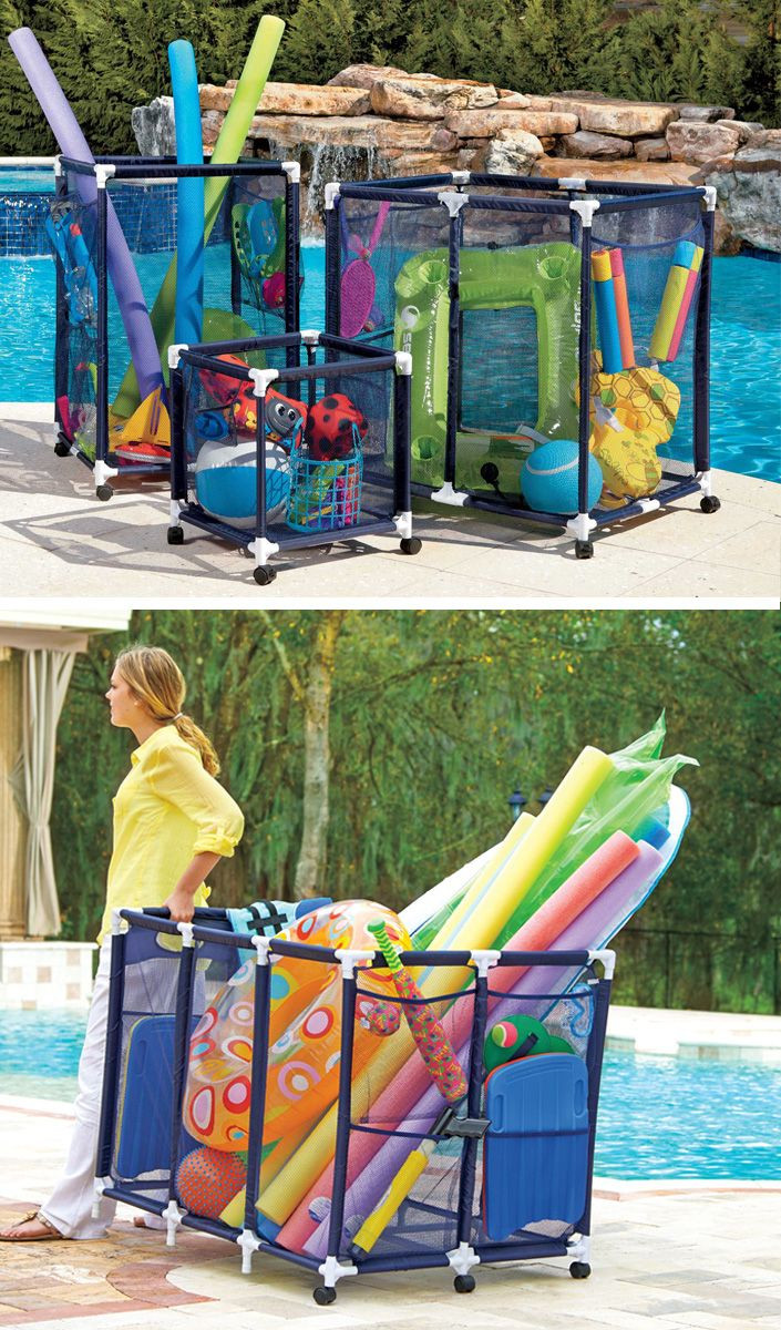 Best ideas about DIY Pool Toys . Save or Pin These mesh pool toy storage bins are large enough to hold Now.