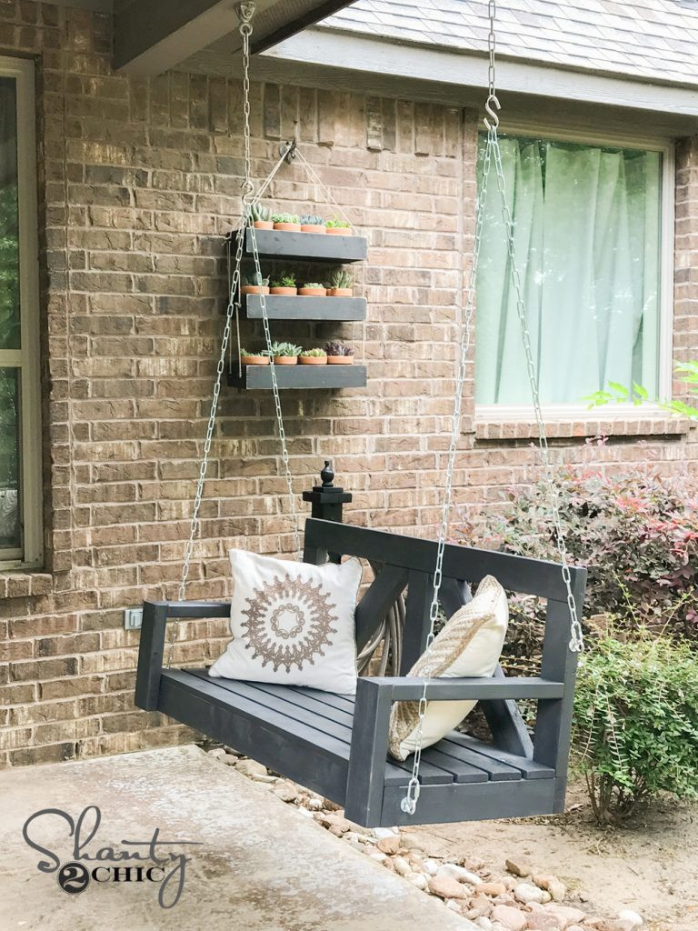 Best ideas about DIY Porch Swing . Save or Pin DIY Porch Swing ly $40 For A Farmhouse Porch Swing Now.
