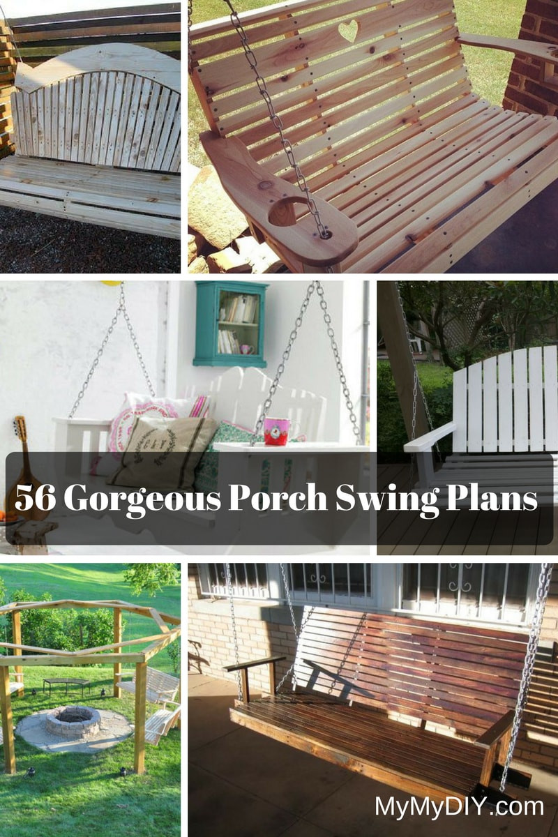 Best ideas about DIY Porch Swing . Save or Pin 56 DIY Porch Swing Plans [Free Blueprints] MyMyDIY Now.