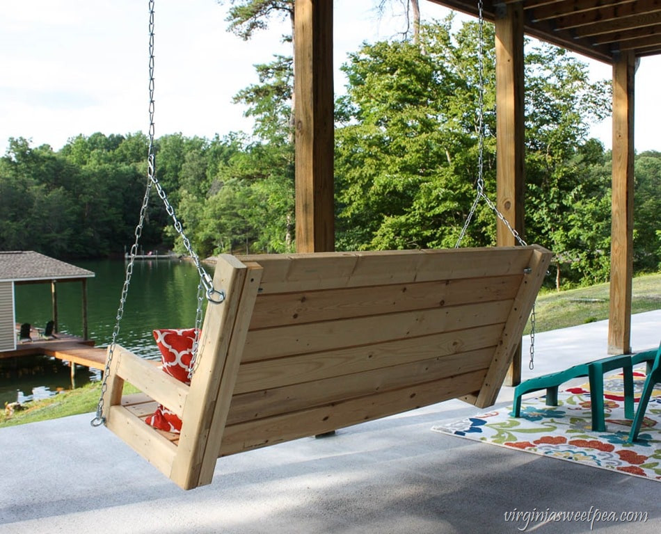 Best ideas about DIY Porch Swing . Save or Pin DIY 2x4 Porch Swing Sweet Pea Now.
