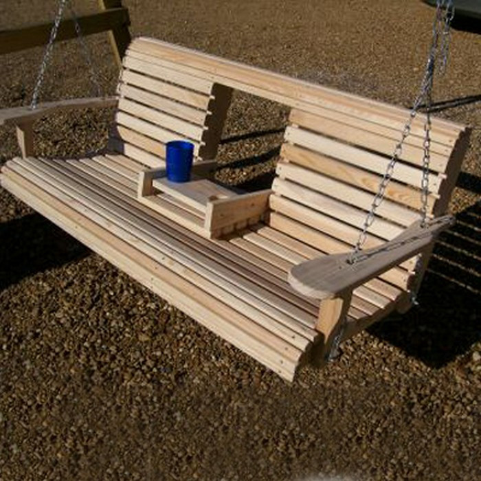 Best ideas about DIY Porch Swing . Save or Pin Unwind in your yard with a DIY wood porch swing with cup Now.