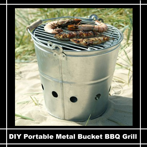 Best ideas about DIY Portable Charcoal Grill . Save or Pin DIY Portable Bucket BBQ Grill Now.