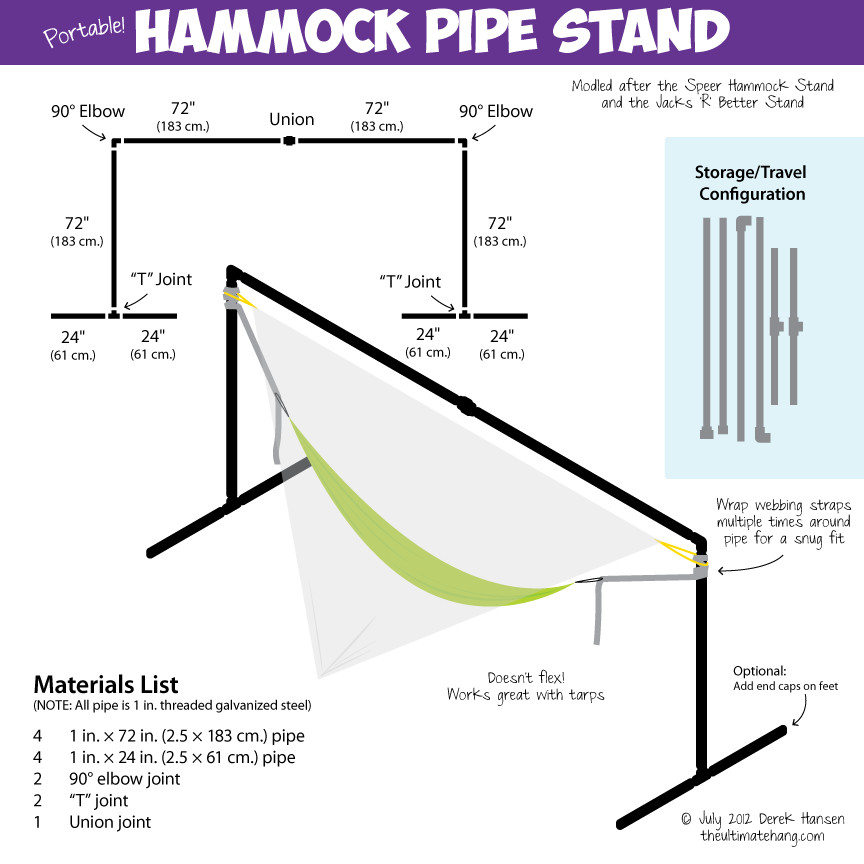Best ideas about DIY Portable Hammock Stand . Save or Pin 15 DIY Hammock Stand to Build This Summer – Home and Now.
