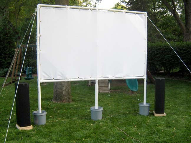 Best ideas about DIY Portable Projection Screen . Save or Pin Summer DIY Build A Backyard Theater Now.