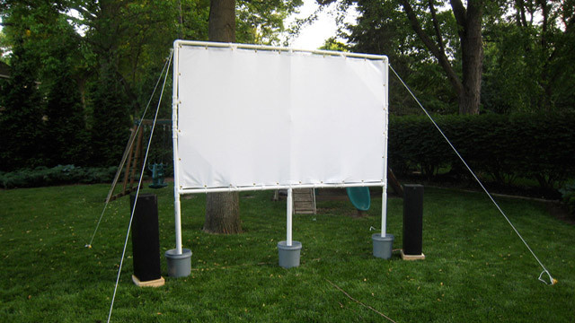 Best ideas about DIY Portable Projection Screen . Save or Pin This DIY Projector Screen is Perfect For Backyard Now.