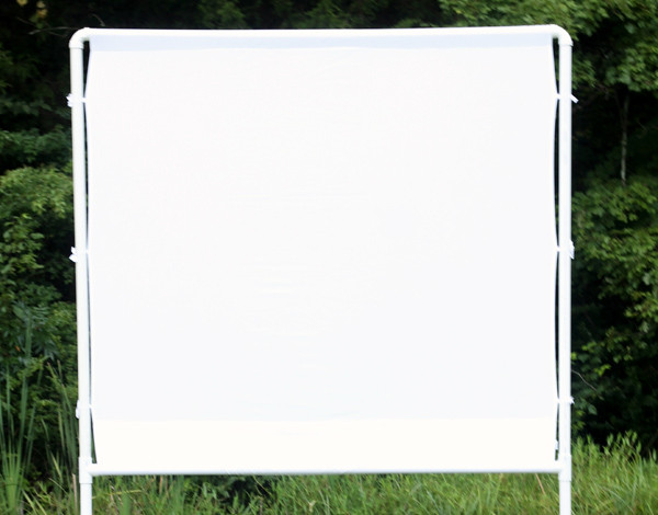 Best ideas about DIY Portable Projection Screen . Save or Pin How to make an easy DIY outdoor movie screen Now.
