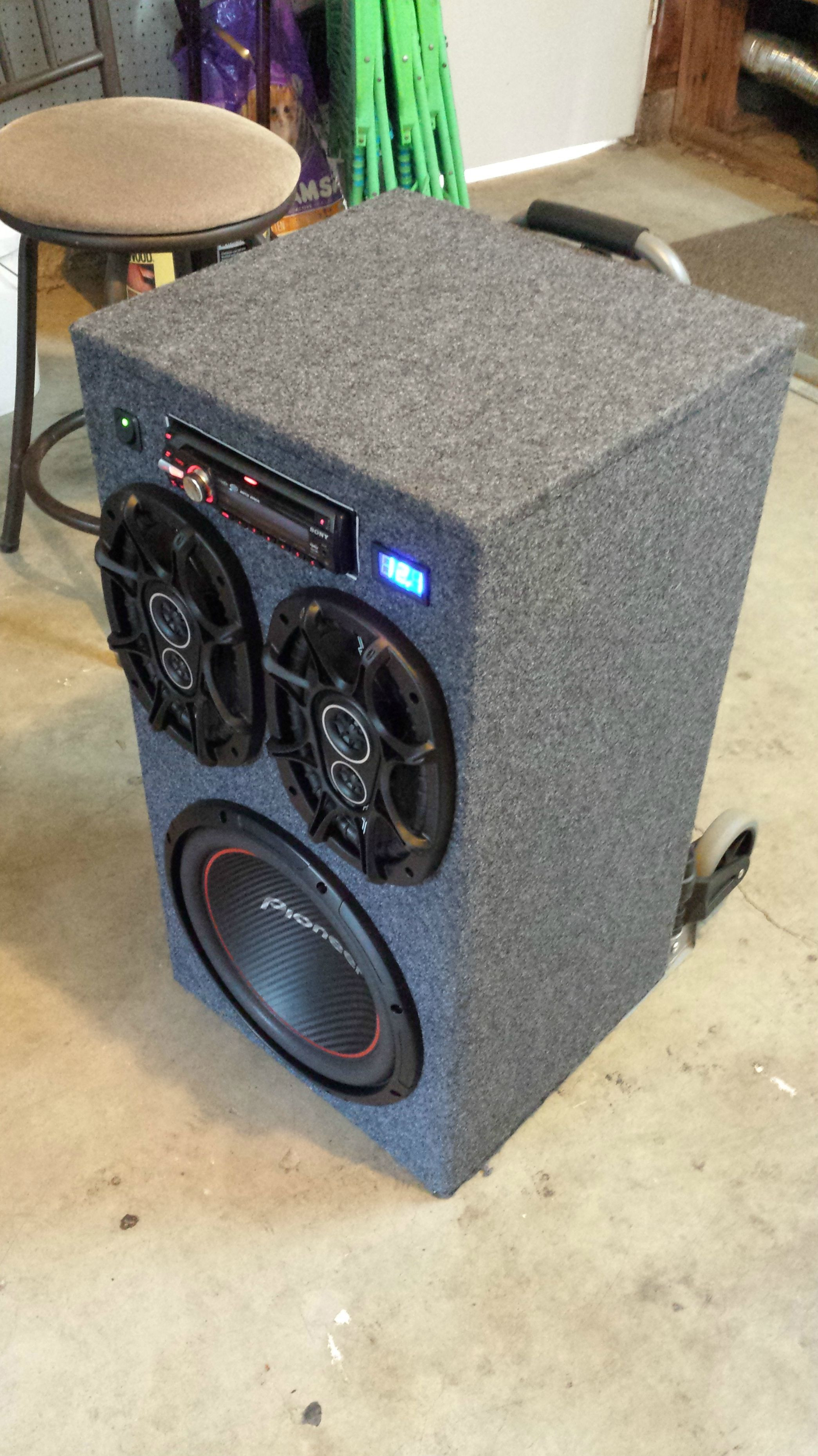 Best ideas about DIY Portable Speakers . Save or Pin DIY Portable Stereo in 2019 Pallet Cooler Now.