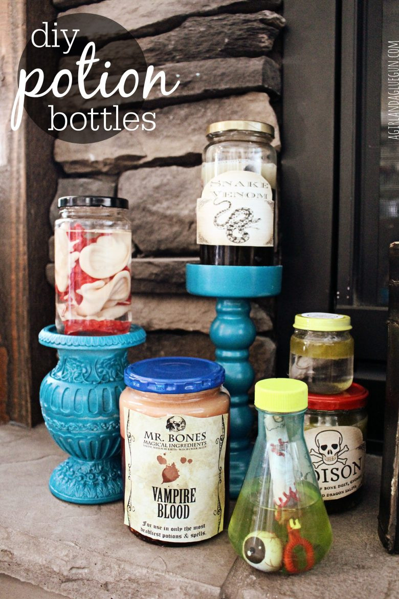 Best ideas about DIY Potion Bottles . Save or Pin potion bottles diy A girl and a glue gun Now.