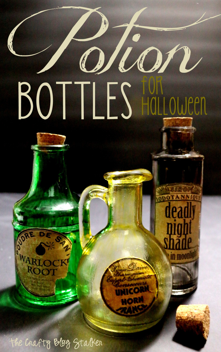 Best ideas about DIY Potion Bottles . Save or Pin Potion Bottles for Halloween The Crafty Blog Stalker Now.