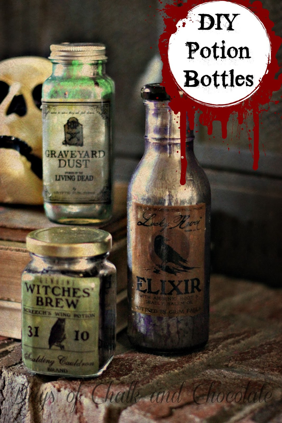 Best ideas about DIY Potion Bottles . Save or Pin DIY Halloween Decor Potion Bottles Now.