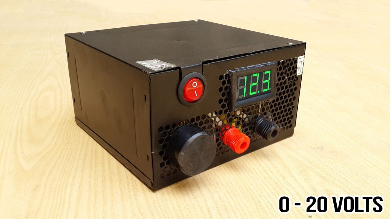 Best ideas about DIY Power Supplies . Save or Pin How to make adjustable 1 to 20 voltage power supply from Now.