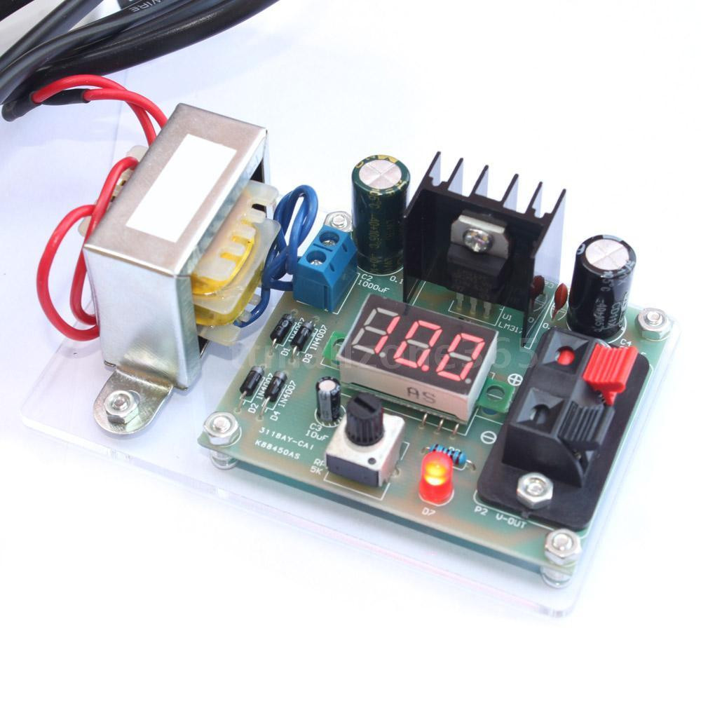 Best ideas about DIY Power Supplies . Save or Pin LM317 Adjustable Voltage Power Supply Board Kit Now.