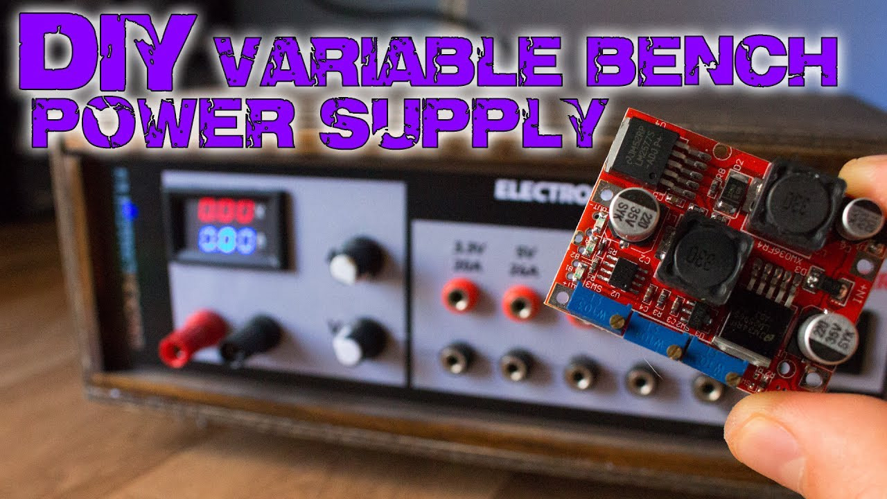 Best ideas about DIY Power Supplies . Save or Pin DIY variable bench power supply less than 10$ Now.