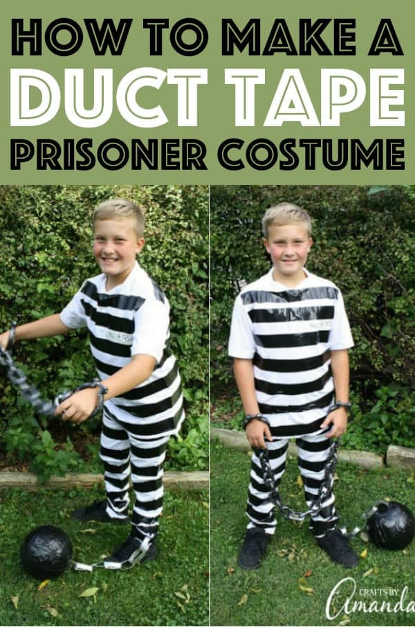 Best ideas about DIY Prisoner Costume . Save or Pin Prisoner Costume easily made with duct tape and white Now.