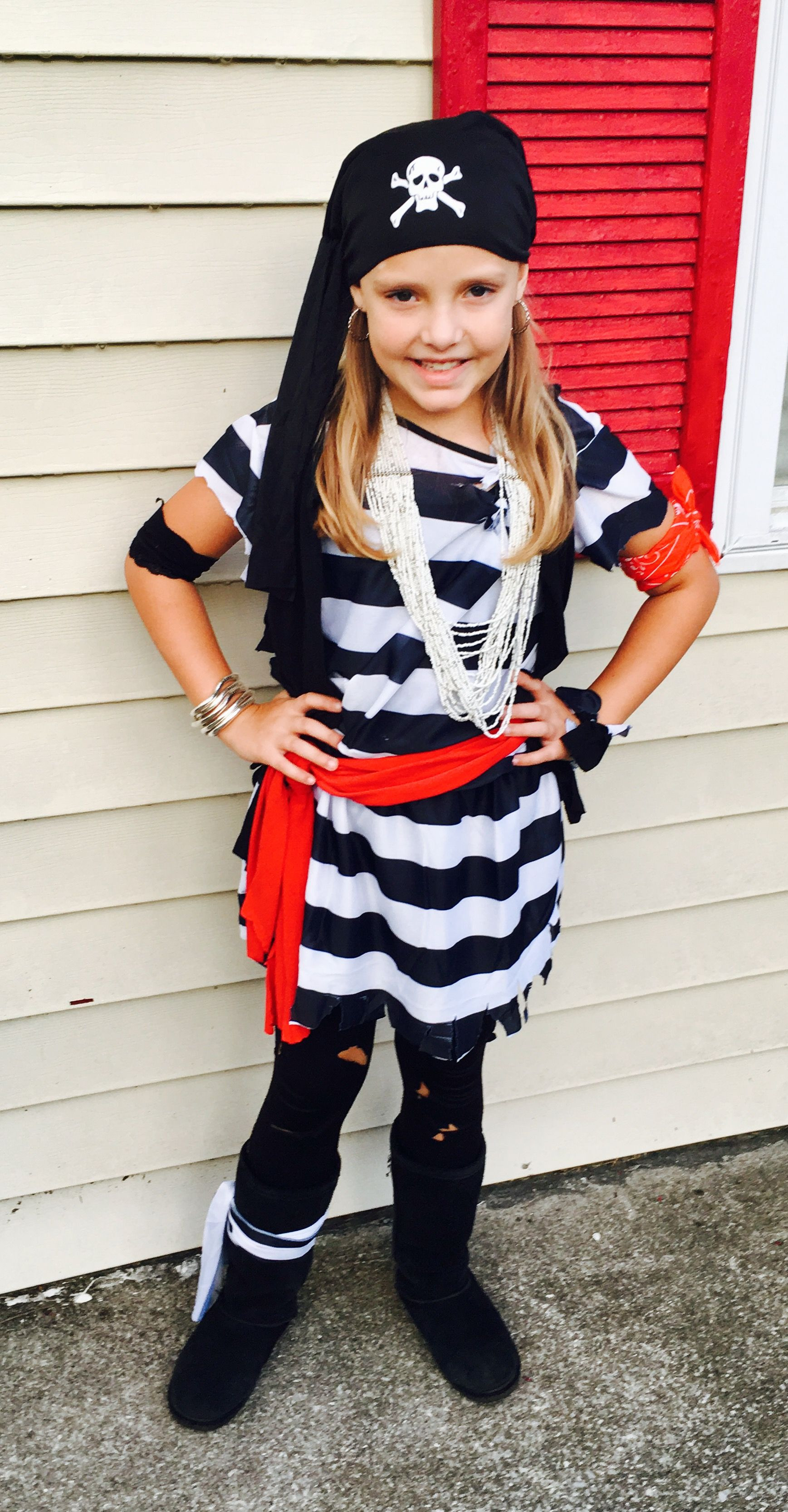 Best ideas about DIY Prisoner Costume . Save or Pin Easy girl s pirate costume made from cheap adult size Now.