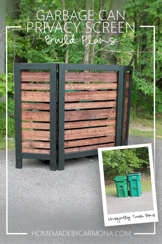 Best ideas about DIY Privacy Screen . Save or Pin Garbage Can Privacy Screen Home Made By Carmona Now.