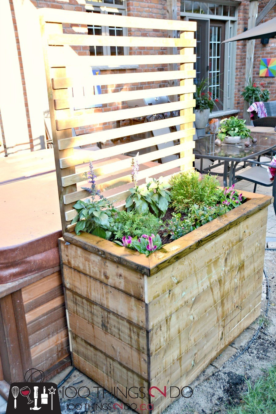 Best ideas about DIY Privacy Screen . Save or Pin DIY Privacy Planter DIY Privacy Sceen Now.