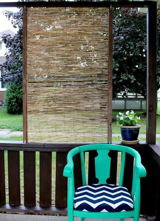 Best ideas about DIY Privacy Screen . Save or Pin DIY Bamboo Privacy Screen Christinas Adventures Now.