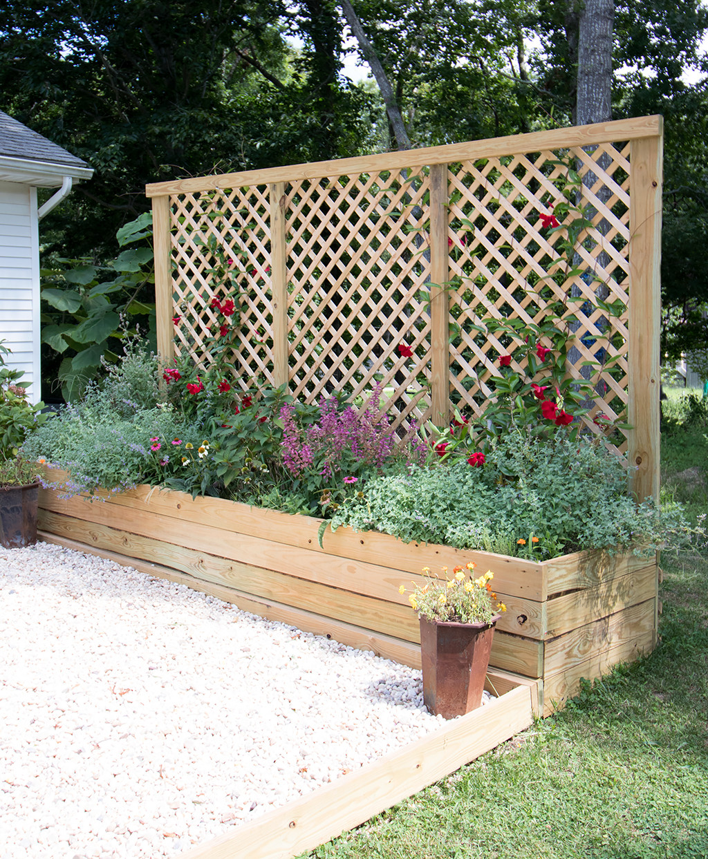 Best ideas about DIY Privacy Screen . Save or Pin Privacy Screen Planter DIY Gina Michele Now.
