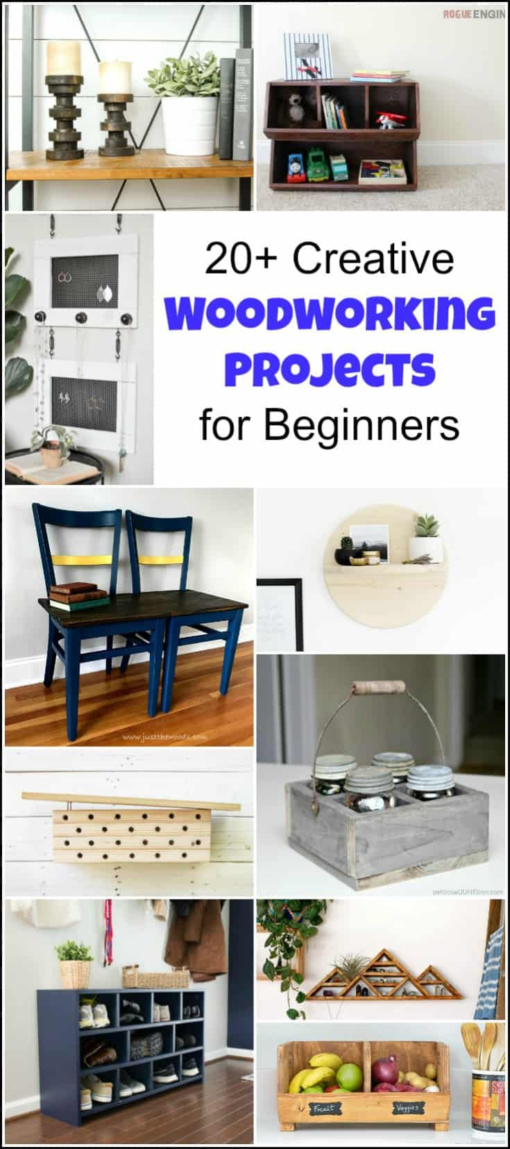 Best ideas about DIY Project Plans . Save or Pin 20 Creative Beginner Woodworking Projects for the Serial DIYer Now.
