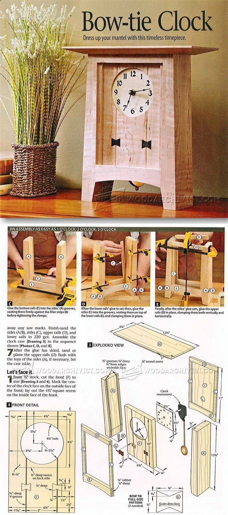 Best ideas about DIY Project Plans . Save or Pin Best 25 Wooden clock plans ideas on Pinterest Now.