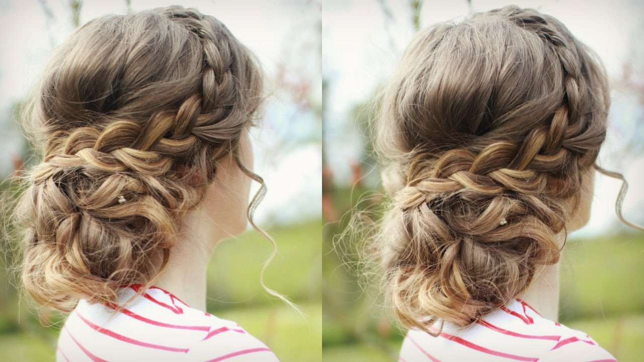 Best ideas about Diy Prom Hairstyle . Save or Pin DIY Curly Updo with Braids Now.