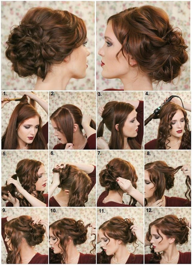 Best ideas about Diy Prom Hairstyle . Save or Pin DIY Fancy Bun Hairstyle s and for Now.