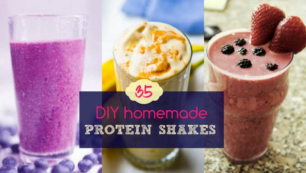Best ideas about DIY Protein Shakes . Save or Pin 35 DIY Homemade Protein Shakes Home Reme s Now.
