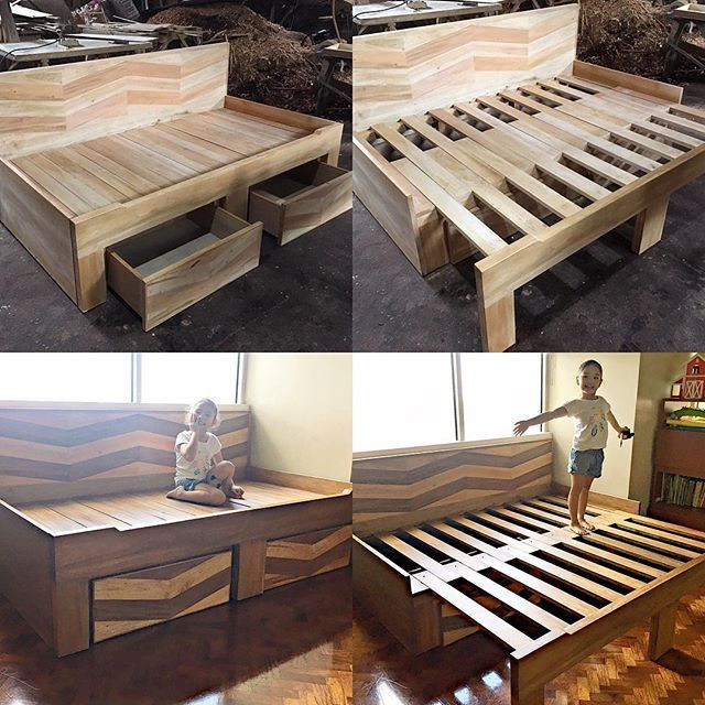 Best ideas about DIY Pull Out Bed . Save or Pin Converts to a full size king bed with 2 pull out drawers Now.