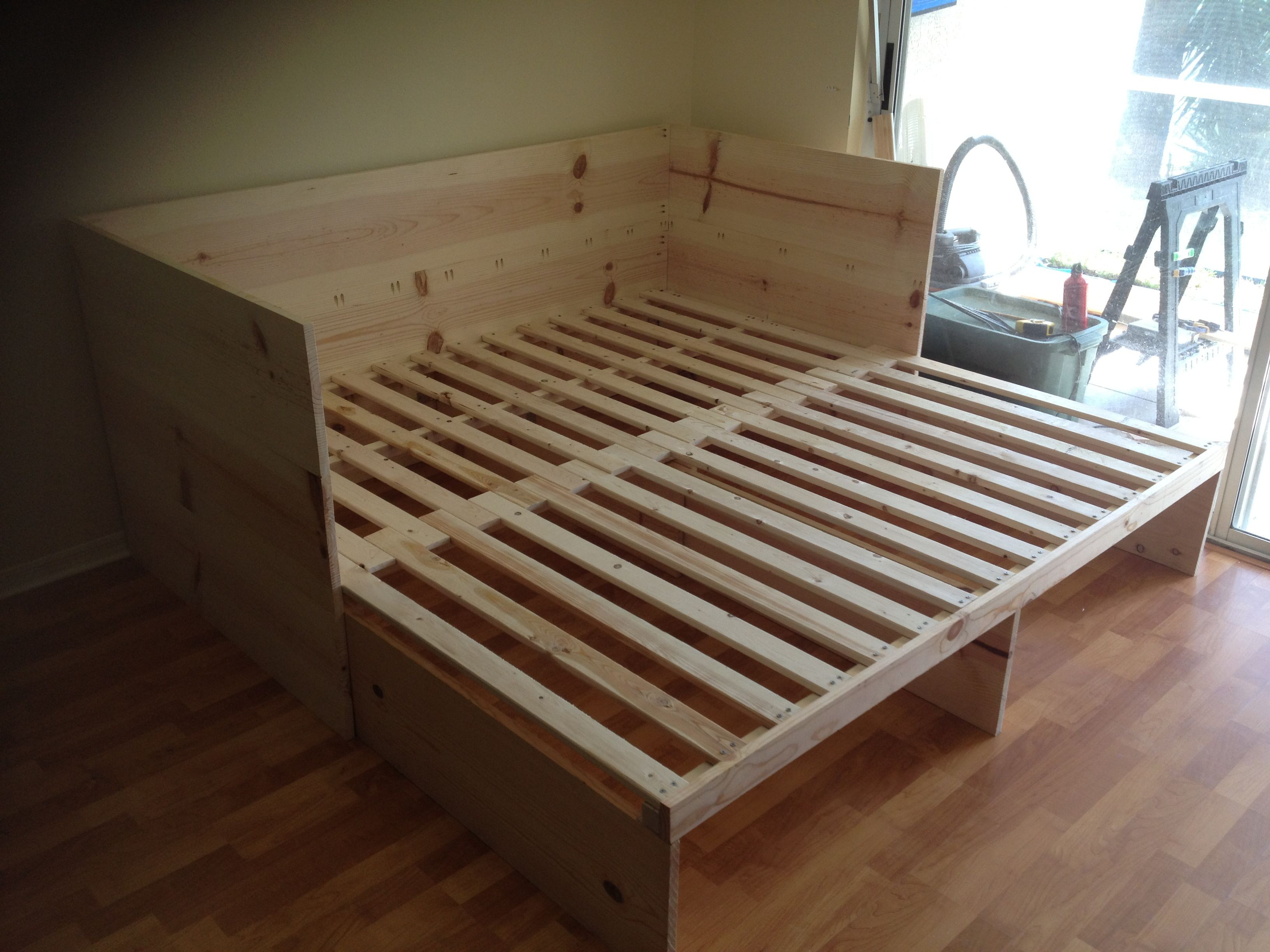 Best ideas about DIY Pull Out Bed . Save or Pin Could make this without headboard Twin to king pull out Now.