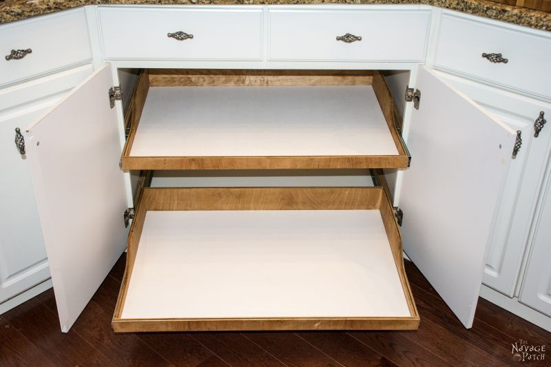 Best ideas about DIY Pull Out Shelves . Save or Pin DIY Slide Out Shelves Tutorial The Navage Patch Now.