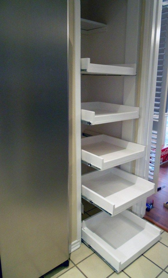 Best ideas about DIY Pull Out Shelves . Save or Pin Pull out pantry shelves DIY For the Home Now.