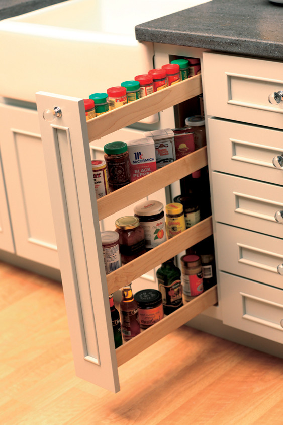 Best ideas about DIY Pull Out Spice Rack . Save or Pin Pull Out Kitchen Storage Cabinets Now.