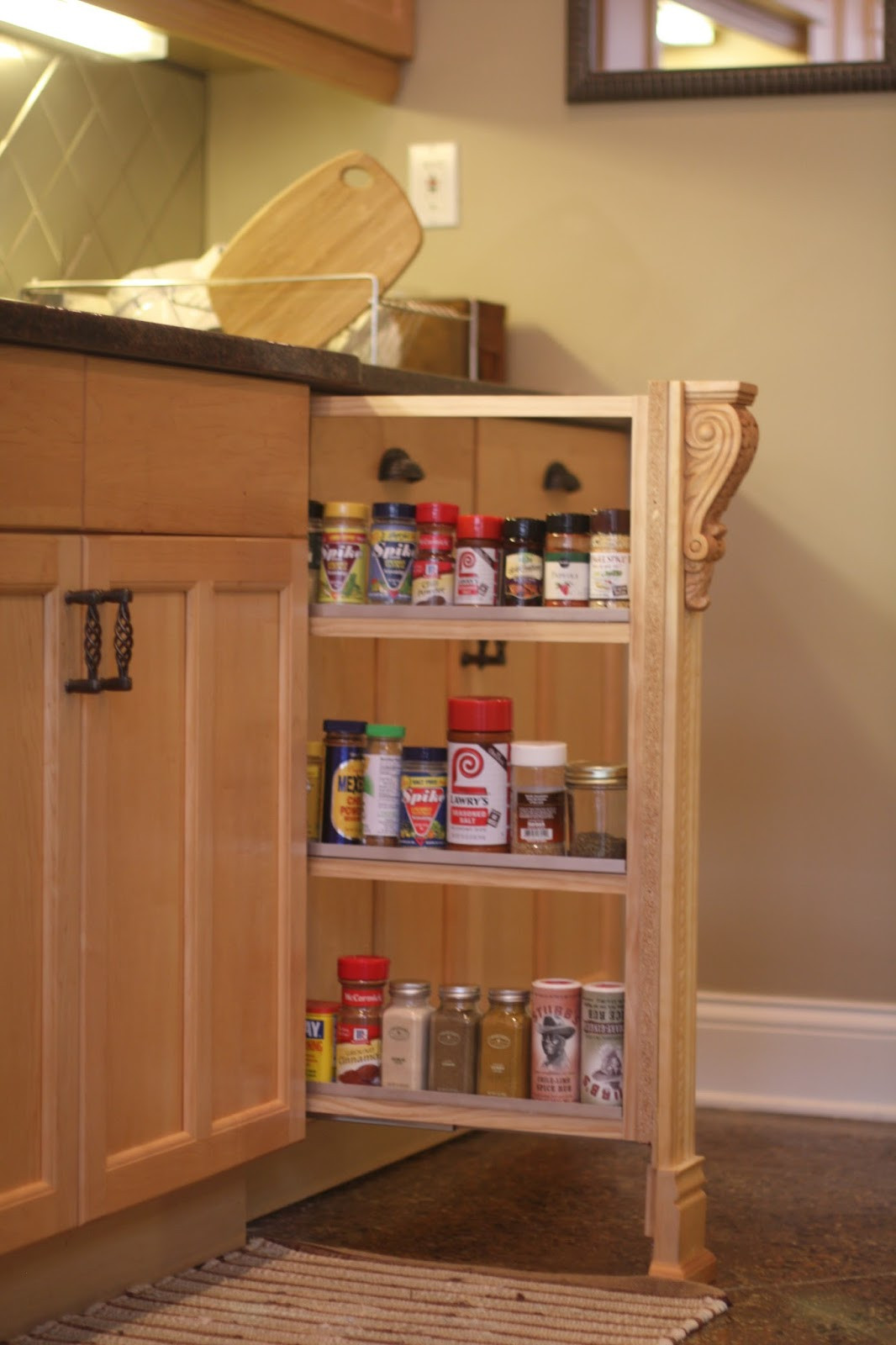 Best ideas about DIY Pull Out Spice Rack . Save or Pin DIY Slide out Spice Rack pleted HandyHubby Now.