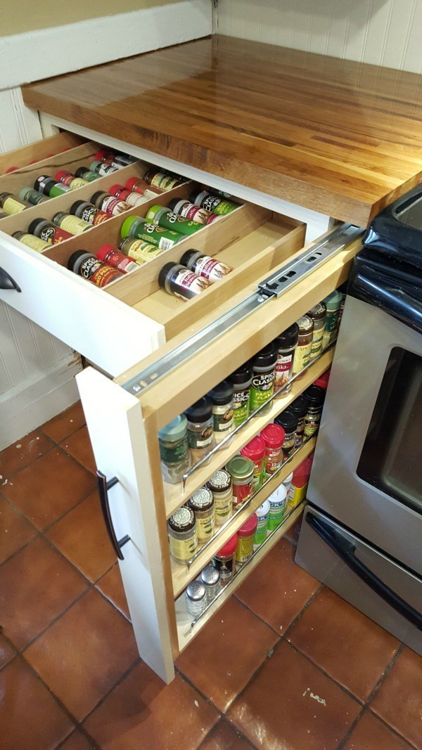 Best ideas about DIY Pull Out Spice Rack . Save or Pin DIY Spice Drawer Now.