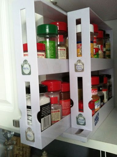 Best ideas about DIY Pull Out Spice Rack . Save or Pin The pull out spice rack from Bed Bath & Beyond with DIY Now.