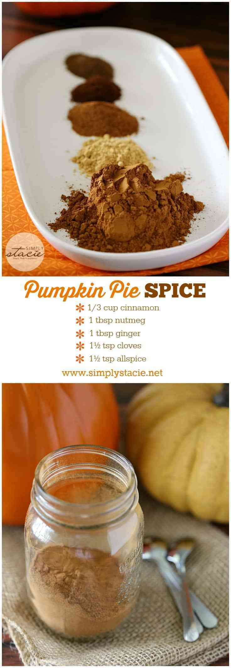 Best ideas about DIY Pumpkin Pie Spice . Save or Pin Homemade Pumpkin Pie Spice Simply Stacie Now.