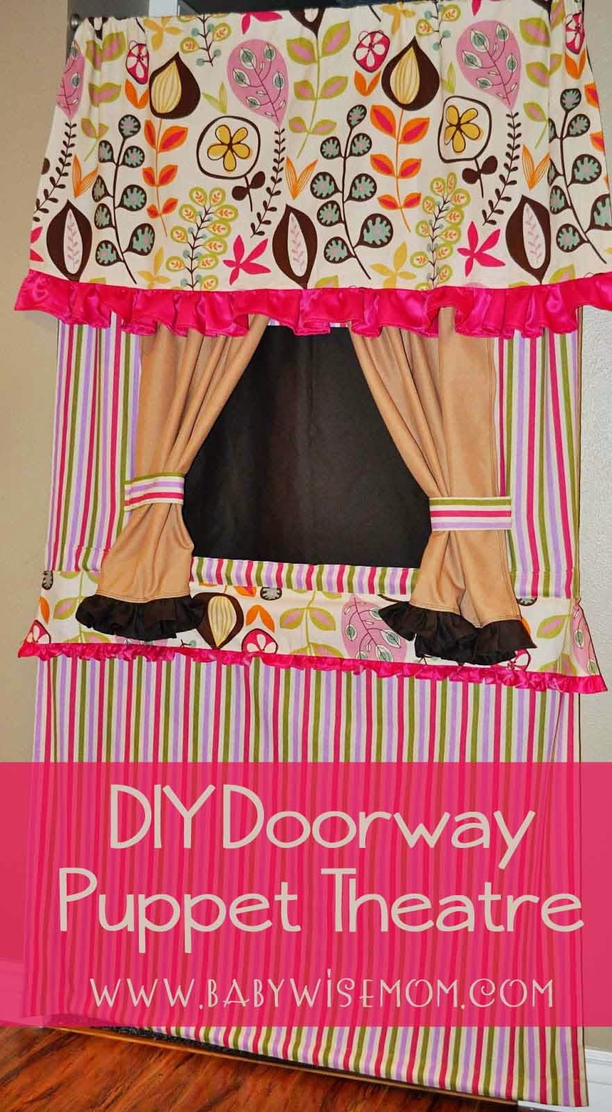 Best ideas about DIY Puppet Theater . Save or Pin DIY Doorway Puppet Theatre Tutorial Chronicles of a Now.