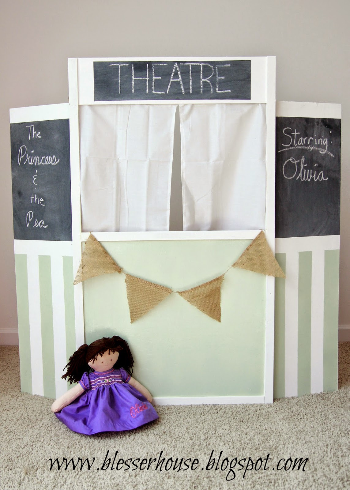 Best ideas about DIY Puppet Theater . Save or Pin Thrifted Puppet Theatre Facelift Land of Nod Style Now.