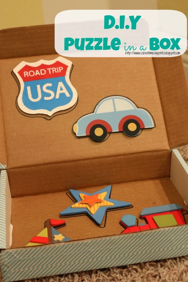 Best ideas about DIY Puzzle Box . Save or Pin Fine Motor Activity for Toddlers DIY Puzzle Now.