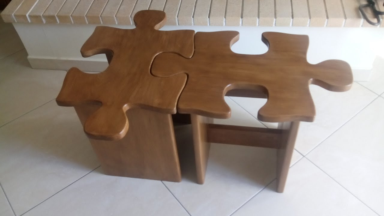 Best ideas about DIY Puzzle Table . Save or Pin DIY puzzle coffee table or stool how to Simply Make it Now.
