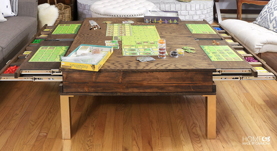 Best ideas about DIY Puzzle Table . Save or Pin DIY Coffee Table With Pullouts Home Made By Carmona Now.